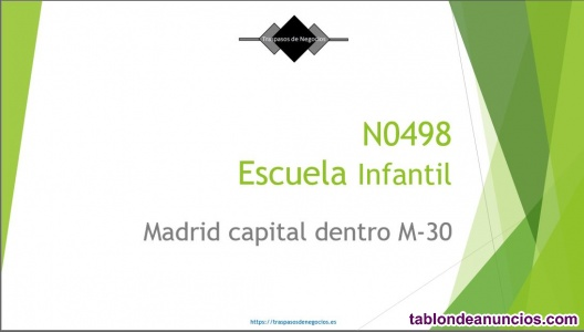 N0498 escuela infantil en madrid capital dentro de la m-30