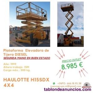 Venta HAULOTTE H15SDX Plataforma de Tijera 4x4 Ocasión.