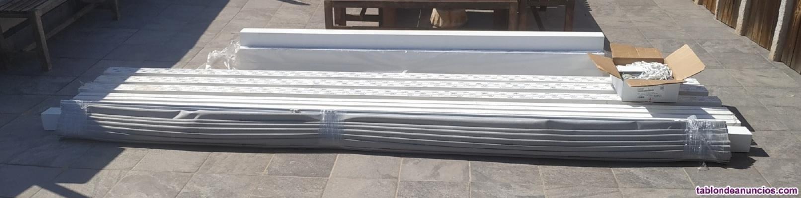Pérgola aluminio blanco