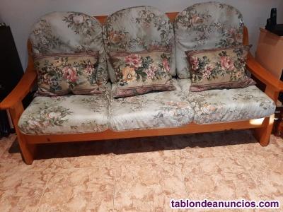 Conjunto dos sofás tres y dos plazas.