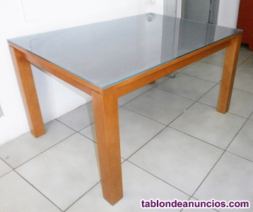 Mesa de centro salón + cristal