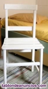 Silla madera-tablas habitación infantil
