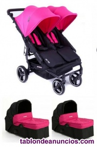 Carrito gemelar easy twin (baby monsters)