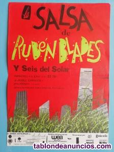 Cartel concierto RUBÉN BLADES 1986