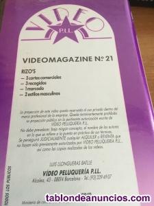 PELUQUERIA Cinta VHS-3 cortes-3 recogidos-1 marcado-2 estilos masculinos