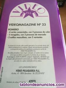 PELUQUERIA cinta VHS -4 cortes, 2 procesos de calor, 2 recogidos. 2 marcado