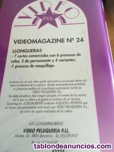 PELUQUERIA cinta VHS - 7 cortes - 3 de permanente - 1 maquillaje