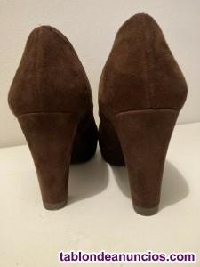 Zapatos de ante marrón marca Twiggy-Twiggy - número 39, 9 cm de tacón