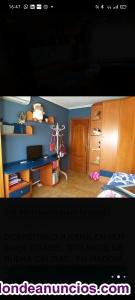 Dormitorio juvenil de madera de cerezo