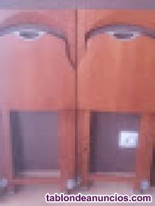 Sillas plegables de madera color teka