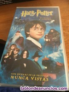 Harry potter y la piedra filosofal . Cinta de video vhs