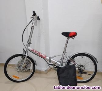 Bicicleta plegable boomerang folding