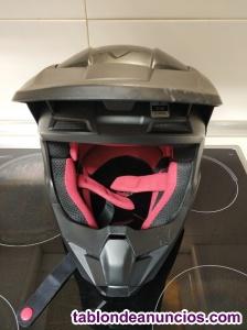 Casco moto negro mate fox v1 (usado).