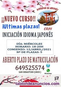 Cursos de Japones en Donostia/San Sebastian en Abril
