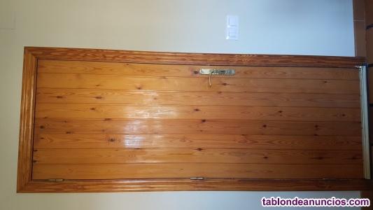 Puerta exterior madera