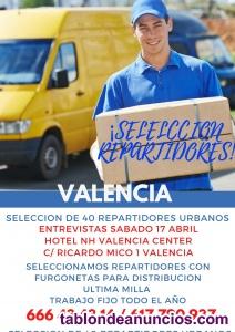 Repartidores con furgoneta valencia