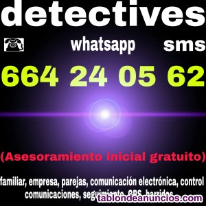 Detectives asesoramiento whatsapp