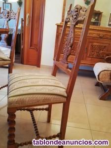Se venden sillas madera tallada