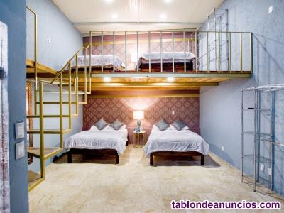 Lofts dobles amuebladas con luz, gas agua e internet. $4,500 por semana.