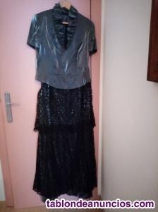 Conjunto vestido de noche y bolso