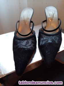 Zapatos de fiesta negros Padeví T.39.5