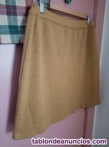Falda corta de lana T-48 Fred Sares.
