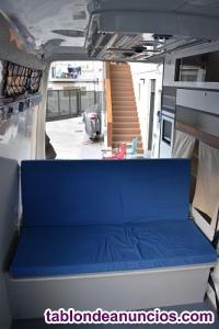 Módulo cama-sofá para furgoneta camper