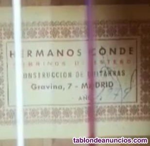 Guitarra flamenca hermanos conde 1979