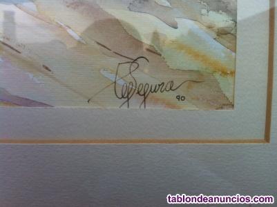 AQUARELA DEL PINTOR PEP SEGURA (Finales 1989/90)