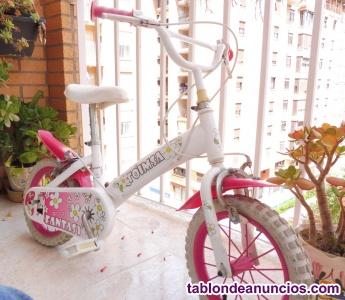 Bicicleta 12 pulgadas niña 3/5 años como nueva fabricada en toledo