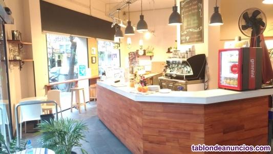 Licencia y negocio de Cafetería con obrador de pan Sagrada Familia