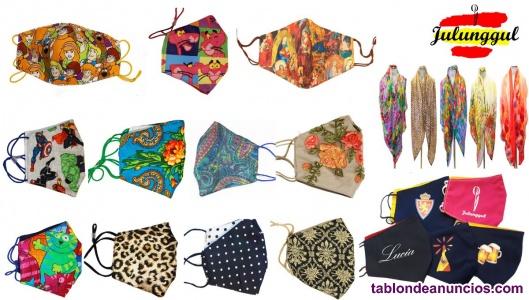 Buscos taller o costurera para confección de mascarillas y prendas de seda