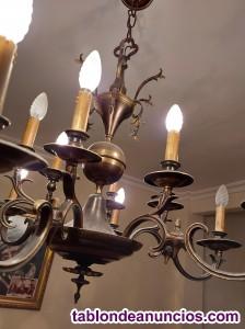 Lámpara de techo bronce antigüa