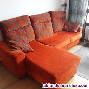 Se vende sofá cama con chaiselongue