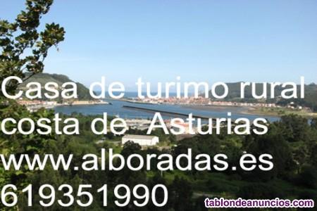 Asturias bonita casa marinera vistas mar Playa en el pueblecito marinero
