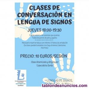 Clases de conversación en lengua de signos