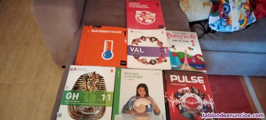 Libros de texto  1 ESO  en buen estado