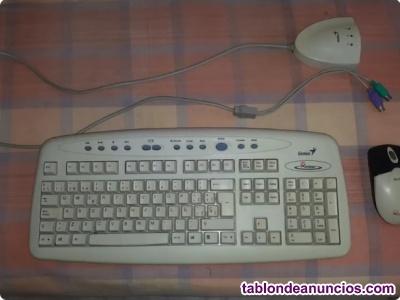 Teclado y ratón inalámbricos conector PS/2