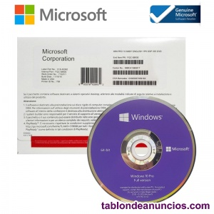 Licencia de Activación Windows 10 pro Clave Key professional