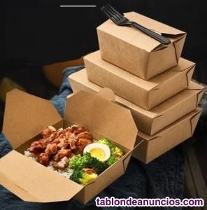 Envase de comida de papel Kraft #3