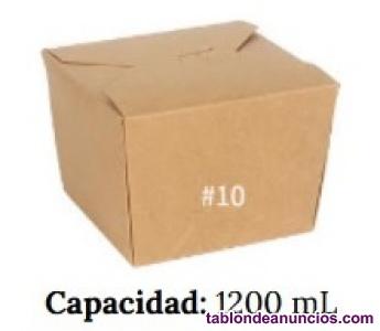 Envase de comida de papel Kraft#10