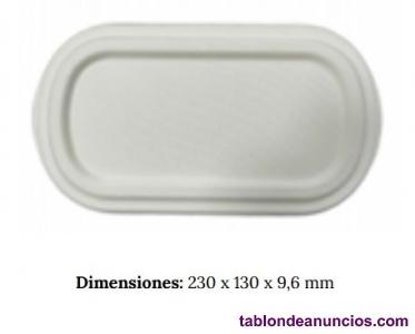 Tapa envase ovalado natural para 850ml