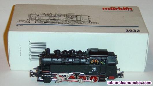 Marklin ho, locomotora de vapor ref. 3032 con motor nuevo 5 polos, digitalizada