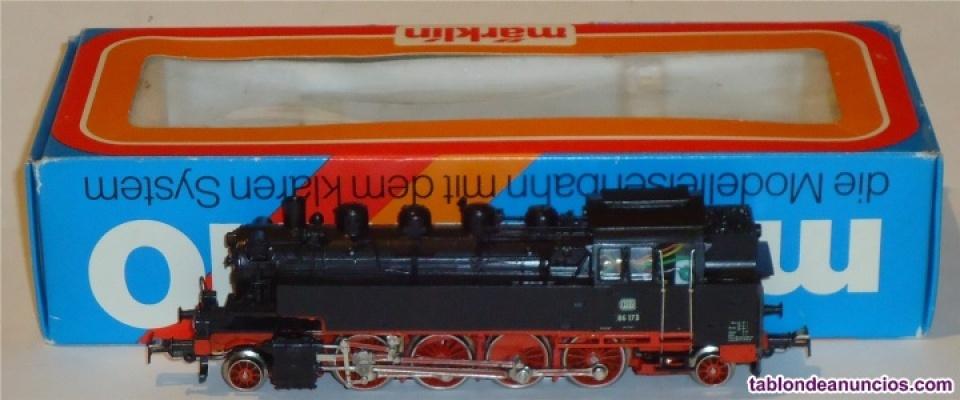 Marklin ho, locomotora de vapor br 86 173 ref. 3096, ¡digital 5 polos con telex!