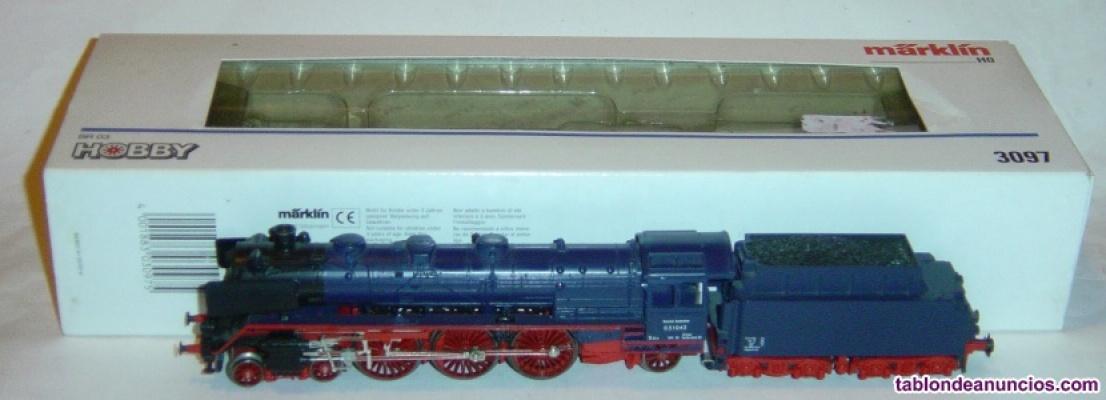 Marklin ho, locomotora br 03 1043 db ref. 3097, ¡digital 5 polos con fumígeno!