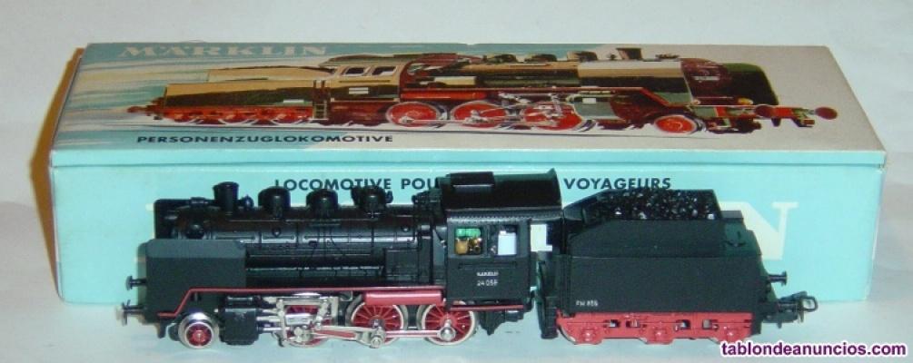 Marklin ho, locomotora br 24 058 ref. 3003 muy antigua, motor 5 polos ¡digital!