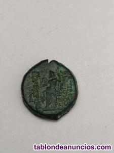 Moneda de Cleopatra y ptolomeo