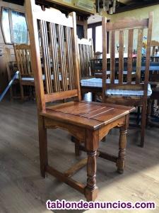 Vendo sillas madera maziza (hasta 12 unidades)