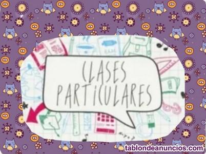Clases particulares online. Primaria y ESO.