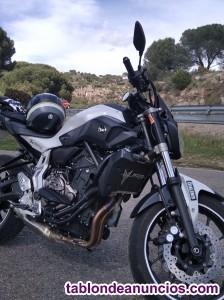 Yamaha MT 07 limitada para el A2